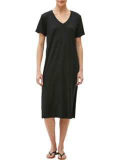 Sandra Cotton Modal Short Sleeve V-Neck Midi Dress Michael Stars