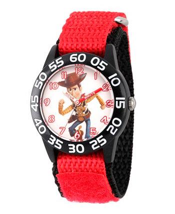 Disney Toy Story для мальчика, 4 Вуди, красные пластиковые часы для учителей с ремешком 32 мм Ewatchfactory