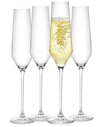 Бокалы для шампанского Layla, набор из 4 шт. JoyJolt