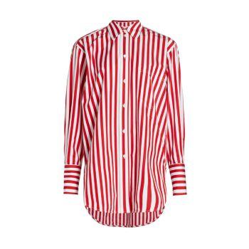 Классическая рубашка оверсайз в полоску Victoria Beckham