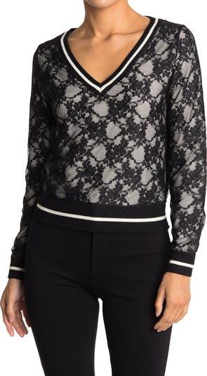 Кружевной свитер с V-образным вырезом Lucy Paris