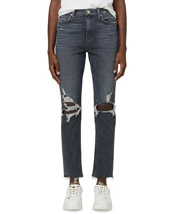 Рваные прямые джинсы Holly с высокой посадкой Hudson Jeans