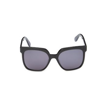 Солнцезащитные очки в квадратной оправе 55 мм с градиентом BCBGMAXAZRIA