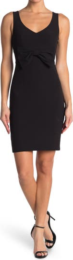 Bow Front Woven Dress Moschino