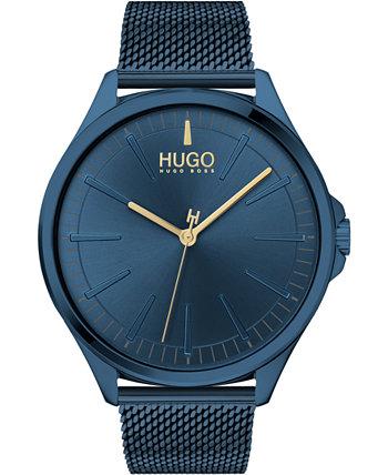 Мужские часы #Smash Blue Mesh с браслетом из нержавеющей стали 43мм HUGO