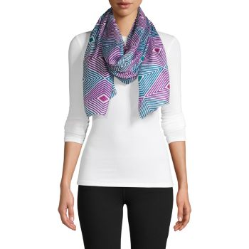 Шелковый шарф с геометрическим рисунком La Fiorentina