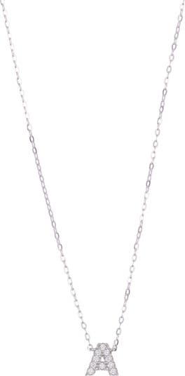 Ожерелье с подвеской Pave CZ Initial NADRI