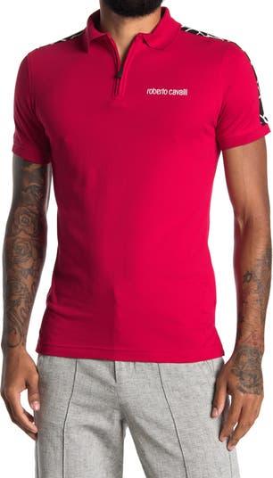 Вязаная рубашка-поло с цветными блоками Roberto Cavalli