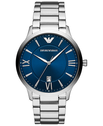 Мужские часы с браслетом из нержавеющей стали 44 мм Emporio Armani