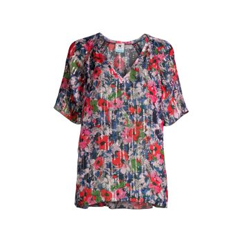 Floral Short-Sleeve Blouse M Missoni