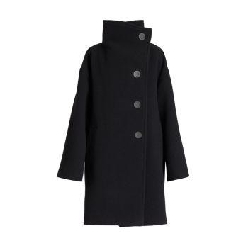 Пальто Oschelle с воротником-стойкой из вареной шерсти Acne Studios