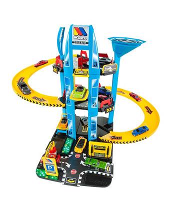 Molto - парковка Playset, 5 этажей с вертолетом Fundamental Toys