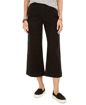 Укороченные джинсы без застежки с широкими штанинами, созданные для Macy's Style & Co