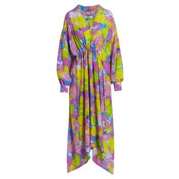 Шелковое платье Bridge с цветочным принтом Rachel Comey