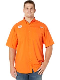 Рубашка с короткими рукавами Big & Tall Clemson Tigers Tide Collegiate Tamiami ™ II Columbia College