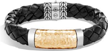 Плетеный браслет из золота 18 карат и стерлингового серебра JOHN HARDY