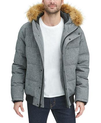 Мужская куртка с большой и высокой короткой паркой с капюшоном из искусственного меха Tommy Hilfiger