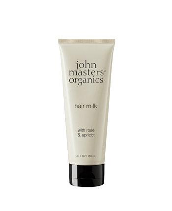 Молочко для волос с розовым абрикосом - 4 эт. унция John Masters Organics