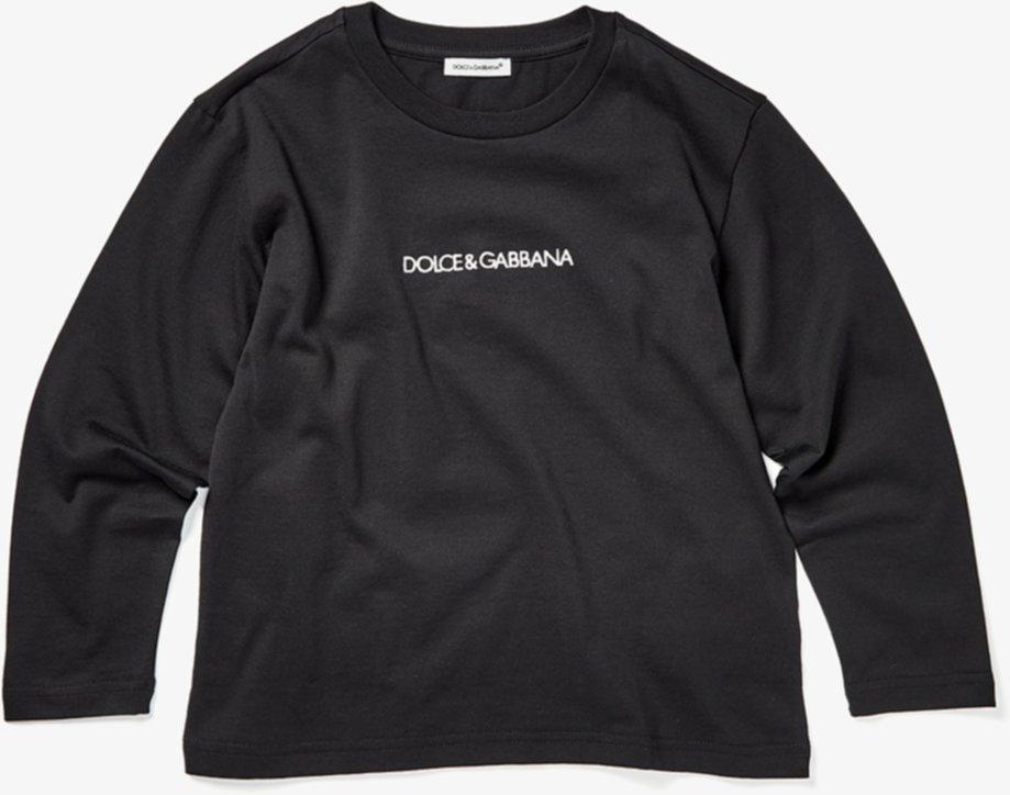 Футболка с длинным рукавом и логотипом (для малышей / маленьких детей) Dolce & Gabbana Kids