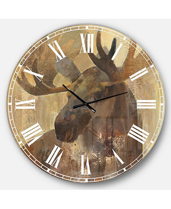 Крупногабаритные металлические настенные часы Farmhouse Designart