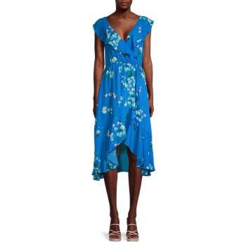 Платье с абстрактными оборками и искусственным запахом Socialite