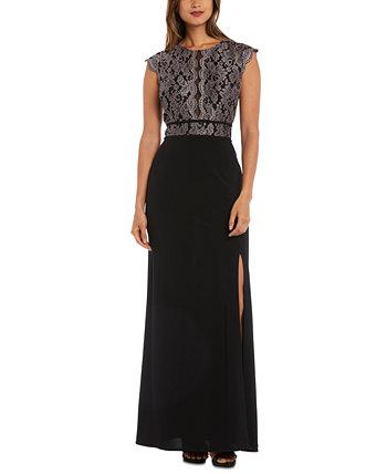 Юниорское платье с кружевным лифом Morgan & Company