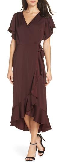 Миди-платье с запахом и оборками Chelsea28