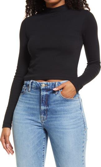 Укороченный свитер с воротником-стойкой BP.