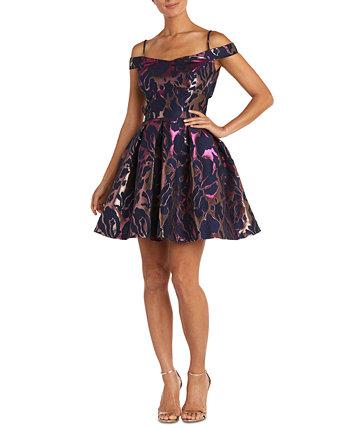 Жаккардовое платье с открытыми плечами для юниоров Morgan & Company
