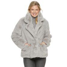 Женская укороченная куртка из искусственного меха Ellen Tracy Ellen Tracy