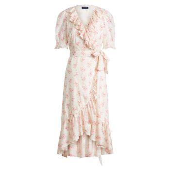 Floral-Print Cotton Wrap Dress Polo Ralph Lauren