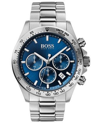 Мужские часы-хронограф Hero из нержавеющей стали 43мм HUGO BOSS