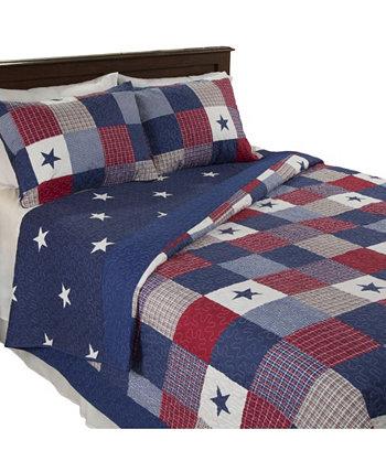 Home Caroline Комплект стеганого одеяла из 3 предметов / королевы BALDWIN
