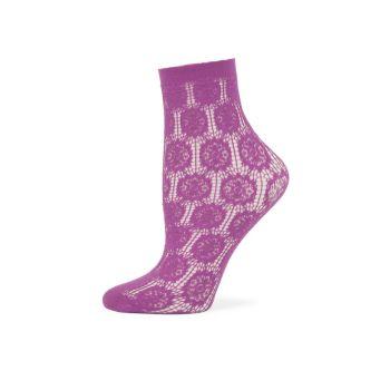 Сетчатые носки ягодной вязки Falke
