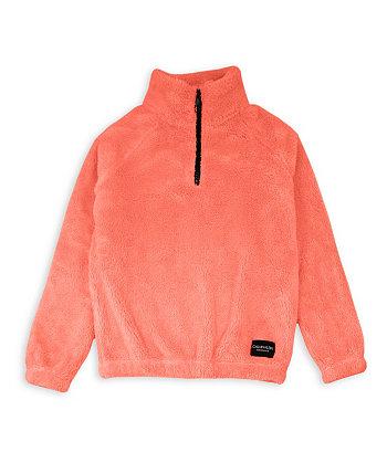 Big Girls Quarter Zip Popover Jacket Calvin Klein