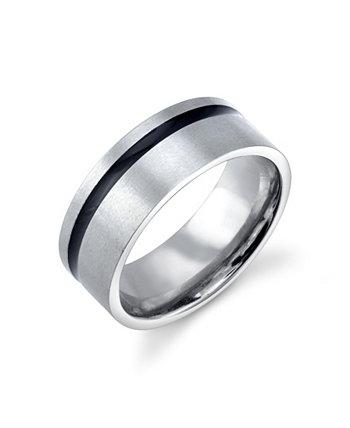 Кольцо из нержавеющей стали с черным дизайном He Rocks