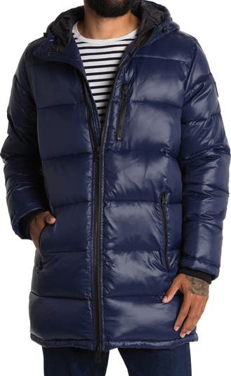 Hooded Long Puffer Jacket GUESS