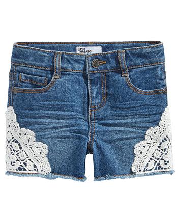 Шорты из джинсовой ткани для девочек с крючком Hemt, созданные для Macy's Epic Threads