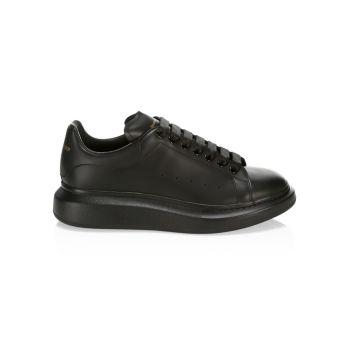 Мужские кроссовки Oversized на кожаной платформе Alexander McQueen