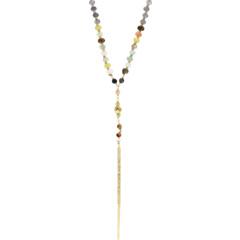 Mixed Semi Precious Stone Necklace with Dagger Pendant Chan Luu