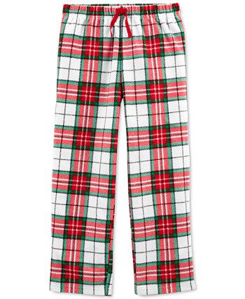Пижамные штаны из флиса в клетку для маленьких мальчиков и девочек Carter's