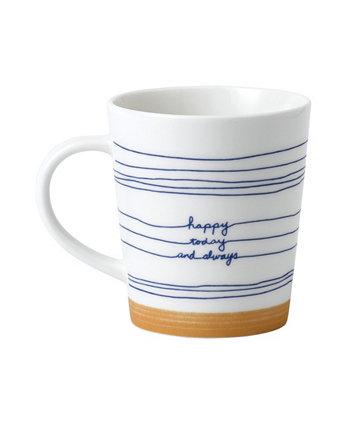 Кружка Happy Today от Crafted By Royal Doulton, 16,5 унций ED Ellen DeGeneres