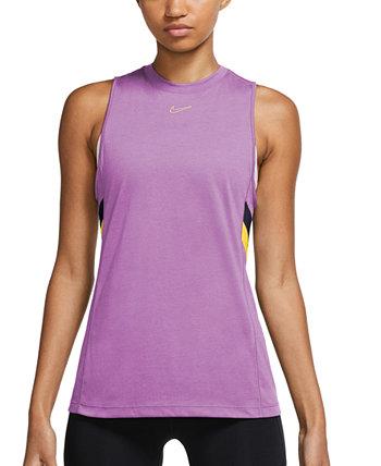 Plus Size Dri-FIT Colorblocked-Stripe Training Tank Top Nike