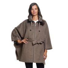 Женское пальто-накидка Ellen Tracy из смесовой шерсти Ellen Tracy