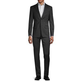 Extra Slim-Fit Wool-Blend Suit Calvin Klein