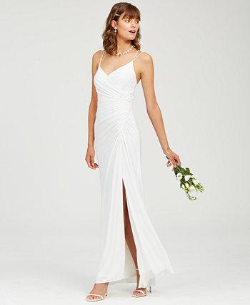 Платье со сборками Adrianna Papell