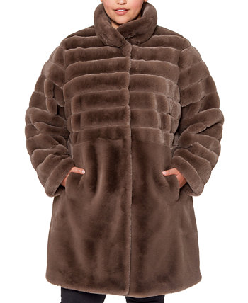 Plus Size Faux-Fur Coat Jones New York