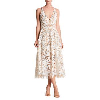 Кружевное платье миди с пайетками без рукавов Blair Dress the Population