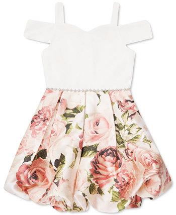 Toddler Girls Cold-Shoulder Floral-Print Bubble Dress Speechless