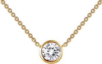 Ожерелье из стерлингового серебра с покрытием из 18-каратного золота с имитацией бриллианта LaFonn